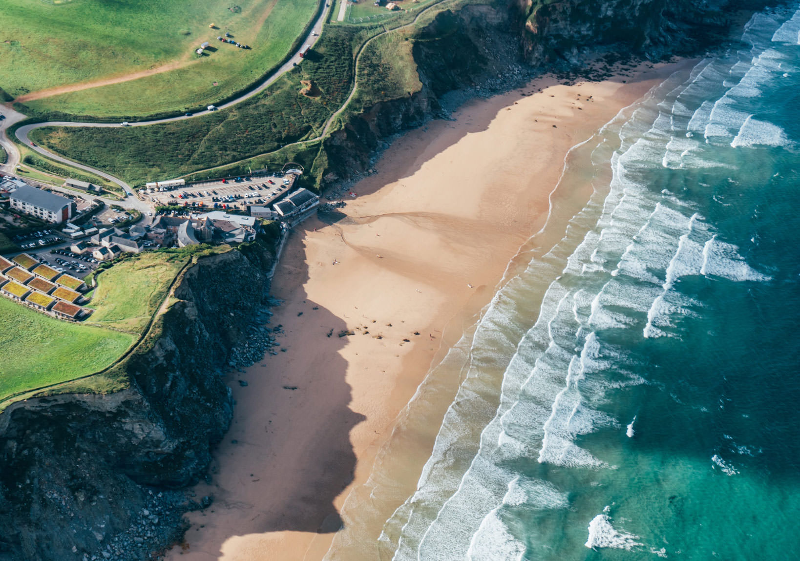 Aerial View of Watergate Bay, Cornwall
