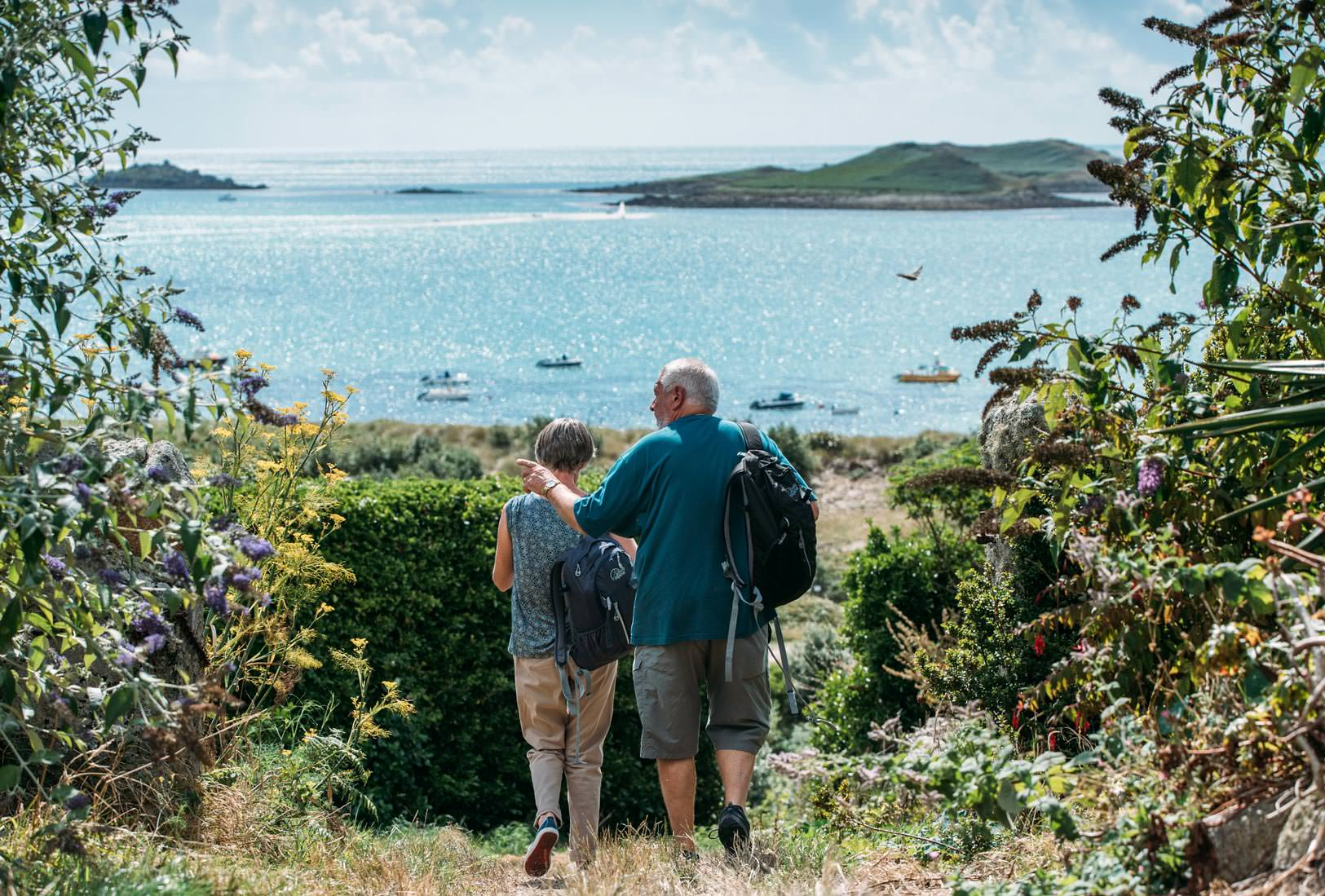 A couple out exploring the Isles of Scilly